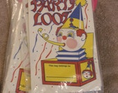 vintage 80s party loot birthday bags, set of 20 bags