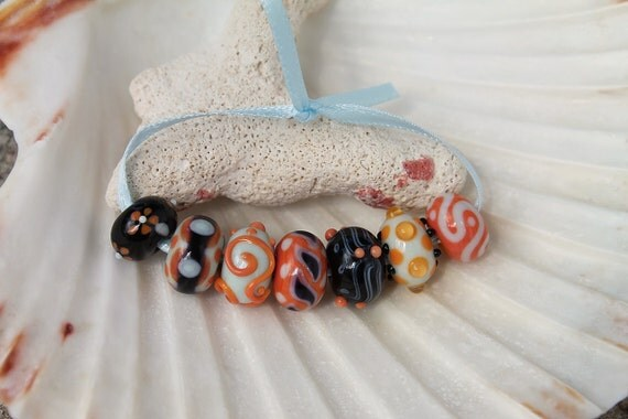 Elizabeth Creations POISON IVY artisan handmade lampwork beads SRA