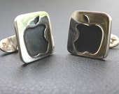 Sterling Silver Apple cufflinks