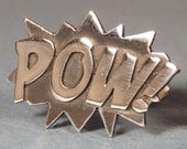 Sterling silver POW cufflinks