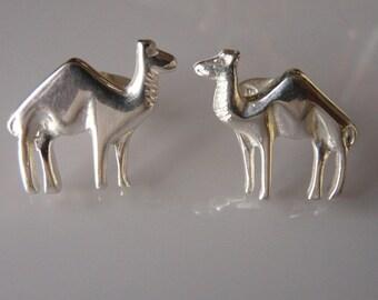 Sterling Silver Camel Cufflinks