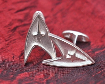 Solid Sterling Silver Star Trek Cufflinks