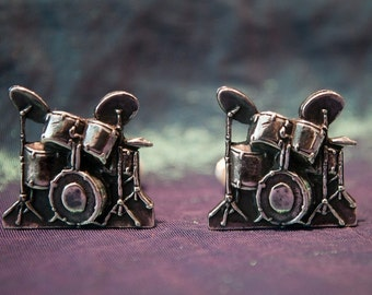 Sterling Silver Drum kit Cufflinks