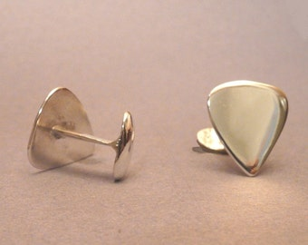 Sterling Silver Guitar pick Cufflinks
