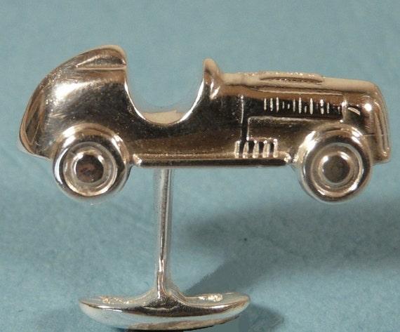 Mens Sterling silver Monopoly car cufflinks