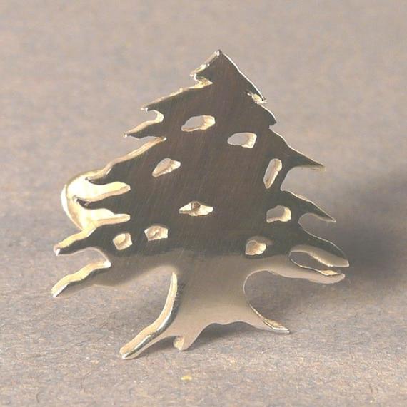 Sterling Silver Cedar tree Cufflinks