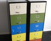 Art Metal Rainbow File Cabinets