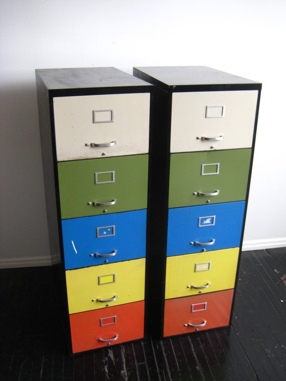 Art Metal Rainbow File Cabinets