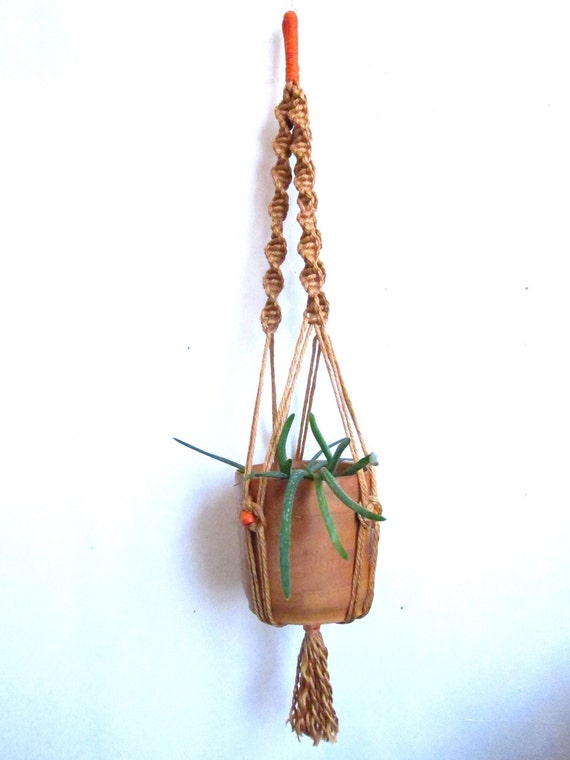 etsy macrame plant hangers macrame plant hanger with wood planter by youareelectric 4976