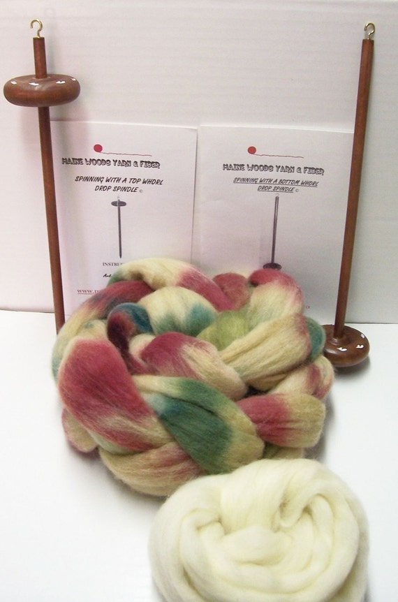 Double Drop Spindle Kit, Colorway, Grapevines, Free Shipping