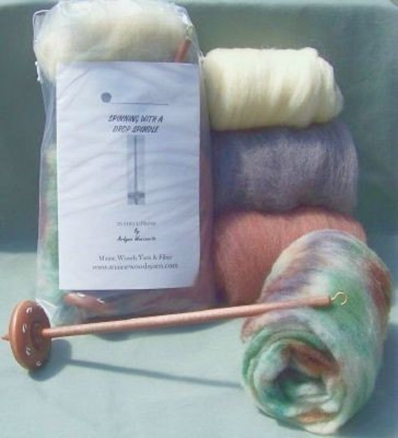 Maine Maple Wood Drop Spindle Kit Earthy Available in Both Top or Bottom Whorl