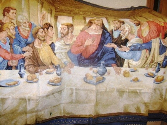 The Last Supper fabric panel