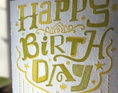 Letterpress Birthday Card - eco friendly and so adorable