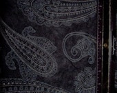 Paisley Faux Suede fabric- 1 yard