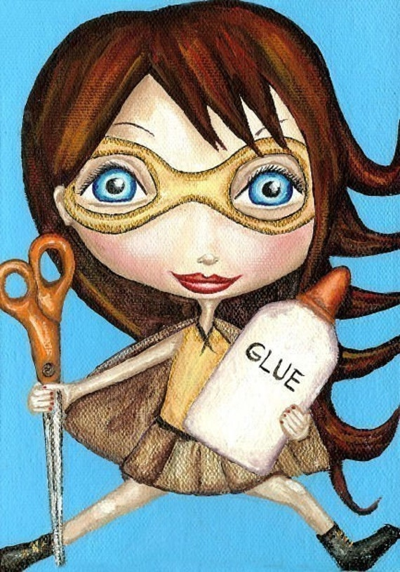 Buy One Get One Free Print Sale - The Adventures Of Cut And Paste Girl Art Print