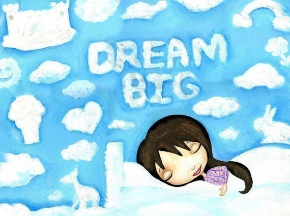 SALE - Raven-Haired Beauty Dreaming Big (Print)