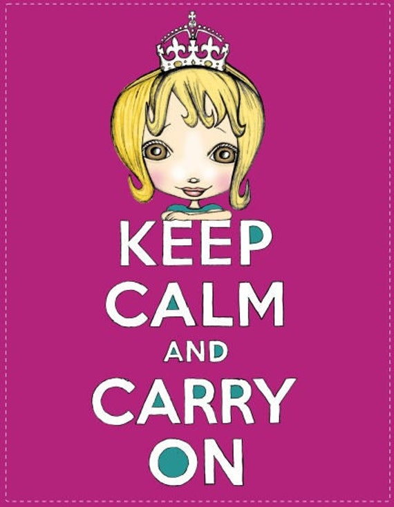 Sale - Keep Calm And Carry On Blonde (Print)