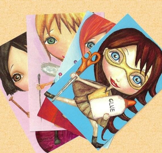 The Crafty Girls Postcard Set