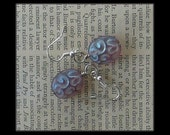 3 Buck Lavender Swirls Earrings on Silver Earring Wire