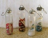 4 Christmas Song Soldered Bottle Holiday Ornaments