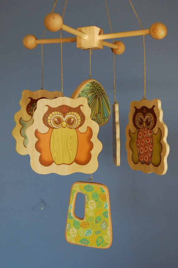 Baby Crib Mobile Baby Mobile Wooden Owl Mobile For A