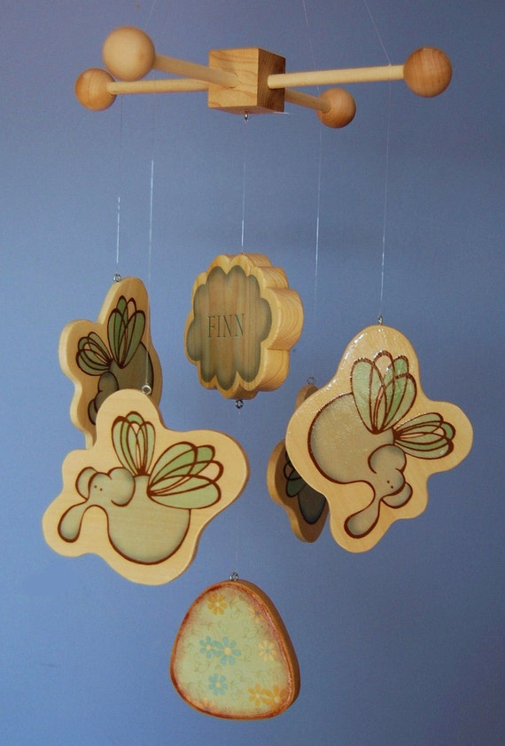 Baby Mobile Elephants - Flying Elephants - Personalized - Mobiles for a Modern Nursery