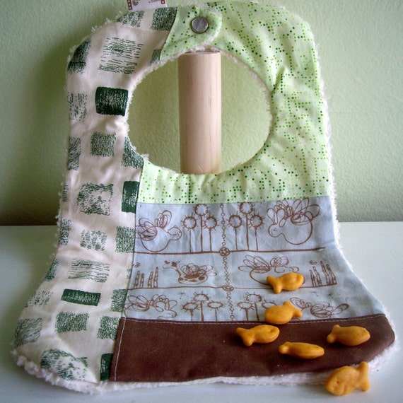 Patchwork Bib with Flying Animals