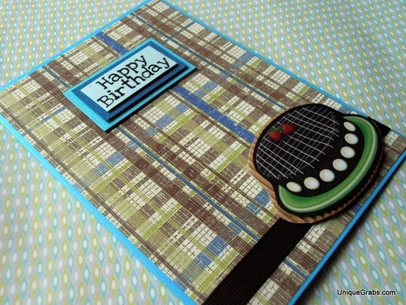Chocolate Cake Happy Birthday Handmade Card