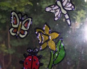 Faux Stained Glass Window Decal - Garden Buddies Remake