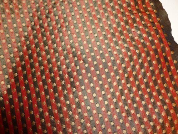 Fabric Destash 1.5 yd Decorative Silk Fabric Red,Black, and Gold.  FREE SHIPPING.