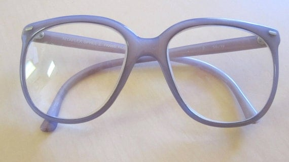 Lavender 1980s Oversized Square Shaped Eyeglasses