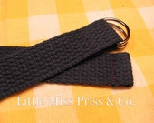 LMP Navy Blue Toddler Belt FOR ESTHER with Silver D-Rings