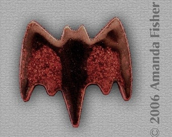 Baby Bat- Small Enameled Tie Tack or Scatter Pin