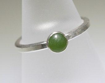 Jade Cabochon Trinket Ring- Stackable