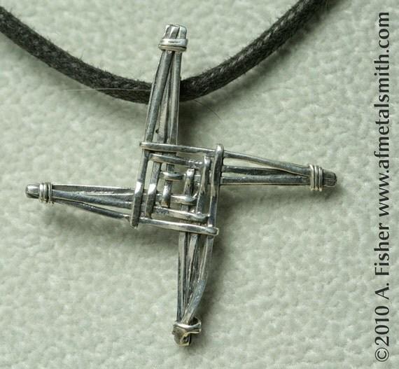 Dainty St Brigid S Cross Pendant Cast Sterling