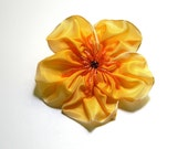 i hate YELLOW flower brooch or hair clip