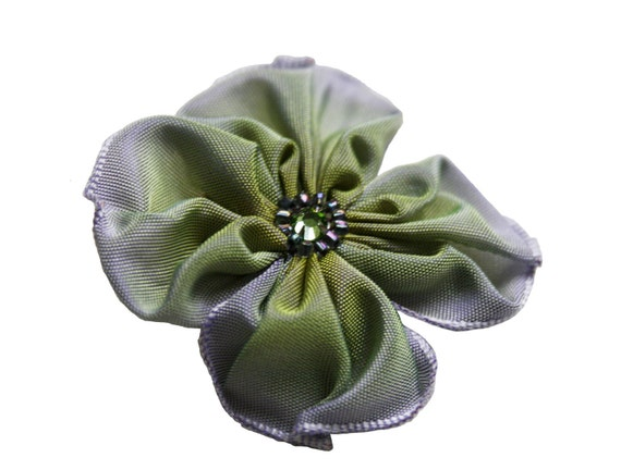 little flower pin periwinkle and lime