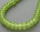 Lampwork glass beads - Spacer - Lime