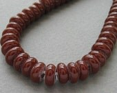 Lampwork glass beads - Spacer - Brown