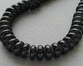 Lampwork glass beads - Spacer - Black