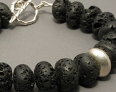 Reserved for Judy Lava and Thai silver bracelet