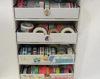 Ink Pad Palace - WASHI Tape crafting storage unit WITH 5 DRAWERS-you assemble