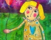 """Funny Humor Art. """"She's Cleverly Disguised as a Responsible Adult."""" FOLK ART MAGNET. Sassy Snarky Saying Quote Text."""
