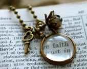 Magnifying Lens Charm Necklace