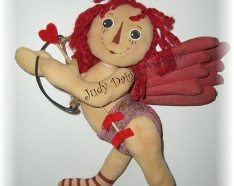 Cupid Raggedy Ann Baby Valentine e mail sewing pattern