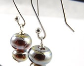 Free Shipping for this Lovely Pair of Handmade Aurae Glass Bead Earrings