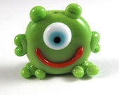 Sookie is this Adorable Handmade Glass Monster Bead