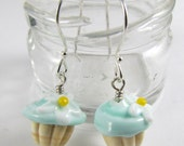 Pair of Adorable Mini Cupcake Earrings