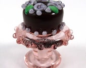 Free Shipping for this Now You Can Have the Whole Chocolate Cake That is a Handmade Glass Bead Too