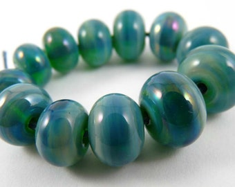 Set of Twelve Gaia Accent Handmade Glass Beads